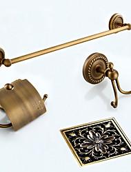 cheap -Bathroom Accessory Set / Towel Bar / Toilet Paper Holder / Robe Hook / Drain / Towel Warmer / Antique Bronze