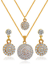 cheap -Women's Bridal Jewelry Sets Earrings Jewelry Golden For Wedding