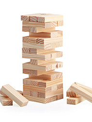 cheap -Board Game Stacking Game Wooden Blocks Mini Wooden Classic Boys' Girls' Toy Gift