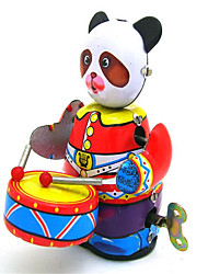 cheap -LT.Squishies Wind-up Toy Novelty Robot Drum Set Metal Vintage 1 pcs Adults' Toy Gift