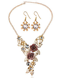 cheap -Women's Bridal Jewelry Sets Earrings Jewelry Gold For Wedding Party