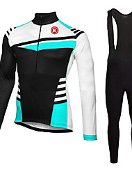 cheap -KEIYUEM Men's Women's Long Sleeve Cycling Jersey with Bib Tights Bike Clothing Suit Breathable 3D Pad Quick Dry Back Pocket Sweat-wicking Sports Coolmax® Mesh Silicon Classic Clothing Apparel