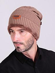 cheap -Ski Hat Men's / Women's Thermal / Warm / Warm Snowboard Wool Solid Color Winter Sports
