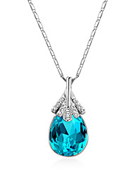 cheap -Women's Bohemian Bohemian Pendant Necklace Sterling Silver / Cubic Zirconia / Opal Purple / Blue / Dark Red