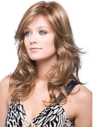 cheap -cerebrity style natural looking brown color wigs with bang