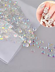 cheap -1000 pcs 4mm ab rhinestone nail art decorations glass strass flatback non hotfix rhinestones for 3d diy nails