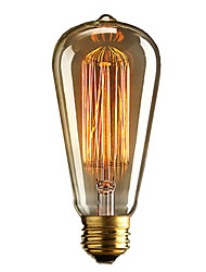 cheap -1 pc E27 40W ST64 Dimmable Edison Decorative Bulb Warm White