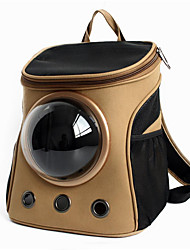 cheap -Cat Dog Carrier & Travel Backpack Astronaut Capsule Carrier Pet Carrier Portable Breathable Solid Colored Black Pink Khaki