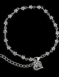 cheap -Women's Chain Bracelet Cuff Bracelet Flower Ladies Personalized Fashion Alloy Bracelet Jewelry Silver For Christmas Gifts Party Daily