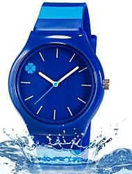 Недорогие -Наручные часы Кварцевый Синий Cool Цветной Аналоговый Листья Конфеты На каждый день Полоски Мода - Темно-синий