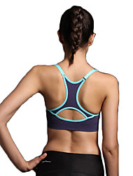 cheap -Women's Sports Bra Top Sports Bra Racerback Spandex Zumba Yoga Running Breathable 3D Pad Quick Dry Padded Light Support Purple Yellow Navy Blue Grey Light Grey Rose Red Fashion / High Elasticity