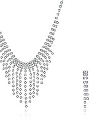 cheap -Women's Cubic Zirconia Jewelry Set Pendant Necklace Necklace / Earrings Personalized Tassel Vintage Fashion Bridal Pearl Sterling Silver Zircon Earrings Jewelry Silver For Wedding Party Casual