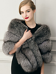 cheap -Sleeveless Capelets Faux Fur Wedding / Party Evening / Casual Women's Wrap With Feathers / Fur