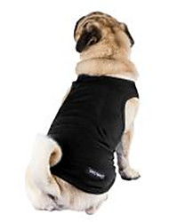 cheap -Pets Dog Vest Winter Dog Clothes Breathable Black Light Blue White Costume Cotton Solid Colored Stylish Casual / Daily Simple Style S M L XL XXL