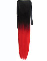 Недорогие -На клипсе Искусственные волосы Волосы Наращивание волос Прямой / Прямой силуэт