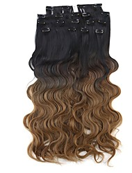 cheap -Synthetic Hair Hair Extension Wavy Classic Clip In Daily High Quality