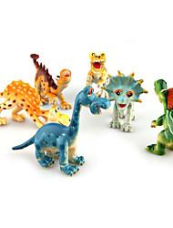cheap -Dinosaur Display Model Cool Novelty Plastic Boys' Girls' Toy Gift 6 pcs