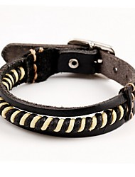 cheap -Bracelet/Leather Bracelets Leather Circle Punk Style Birthday / Party Jewelry Gift Black Jewelry for Men Chritmas Gift