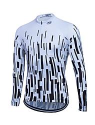 cheap -Fastcute Men's Women's Long Sleeve Cycling Jersey Winter Coolmax® Polyester Plus Size Bike Sweatshirt Jersey Top Mountain Bike MTB Road Bike Cycling Breathable Quick Dry Reflective Strips Sports