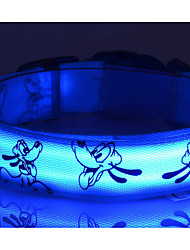 cheap -Nylon LED Dog Collar Print Dog Picture 6 Colors to Choose Dog  Collars  Free Shipping 1pcs/6Color/4Size  S M L XL