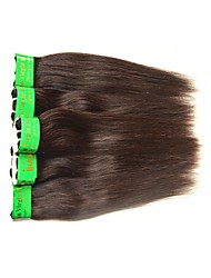cheap -Indian Hair Straight Remy Human Hair Natural Color Hair Weaves / Hair Bulk Human Hair Weaves Human Hair Extensions / 10A