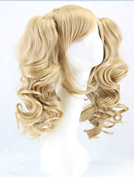 cheap -Synthetic Wig Cosplay Wig Curly Curly With Ponytail Wig Blonde Blonde Synthetic Hair Women's Blonde hairjoy