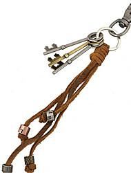 cheap -Key Chain / Punk Fashion Key Chain Brown Metal / PU Leather
