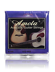 cheap -Amola A100 012-053 Pure Copper Acoustic Guitar Strings For Wooden guitar