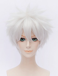 cheap -fashion short curly wig white color synthetic cosplay african american wig Halloween