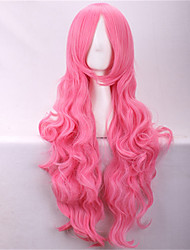 cheap -Synthetic Wig Cosplay Wig Curly Curly Wig Pink Pink Synthetic Hair Pink