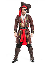 cheap -Pirate Cosplay Costume Party Costume Men's Halloween Festival / Holiday Terylene Men's Carnival Costumes Solid Colored / Top