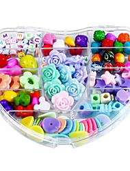 Недорогие -сердце и красочные поделки ручной работы из бисера костюм детей подарок ожерелье развивающие игрушки