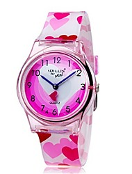 cheap -Wrist Watch Quartz Pink Cool Colorful Analog Ladies Heart shape Candy color Casual Fashion - Pink