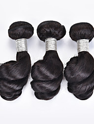 cheap -3 Bundles Brazilian Hair Loose Wave Virgin Human Hair 150 g Natural Color Hair Weaves / Hair Bulk Human Hair Weaves Human Hair Extensions / 10A