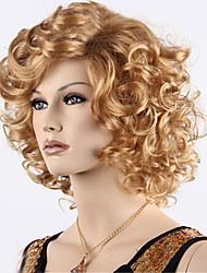 cheap -cheap long curly synthetic blonde brown wigs for black women ombre color synthetic wig heat friendly