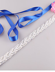 cheap -Satin Wedding / Party / Evening / Dailywear Sash With Imitation Pearl / Beading Women's Sashes