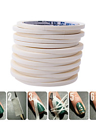 cheap -0 5cm 17m taly manicure tape masking tape pattern tool for nail polish