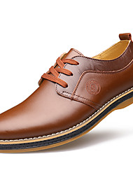 cheap -Men's Formal Shoes Cowhide Spring Casual Oxfords Walking Shoes Brown / Black / Wedding / Leather Shoes / Comfort Shoes / EU40