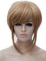 cheap -cosplay wigs golden anime wigs false personality short wig 12 inch Halloween