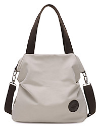 cheap -Women's Canvas Tote Canvas Bag Solid Colored Gray / Coffee / Blue