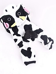 cheap -Cat Dog Costume Jumpsuit Winter Dog Clothes White / Black Costume Corduroy Animal Cosplay XS S M L XL