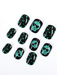 cheap -the-new-halloween-ghost-head-fake-nails-adult-children-general-environmental-nail-strips