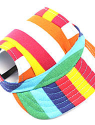 cheap -Dog Bandanas & Hats Dog Clothes Stripe Cotton Costume For Pets Men's / Women's Casual / Daily