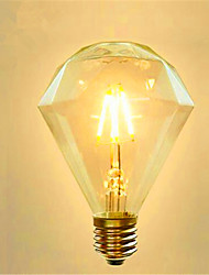 cheap -1pc 4 W LED Filament Bulbs 350 lm E26 / E27 G95 4 LED Beads COB Decorative Warm White 220-240 V / 1 pc / RoHS