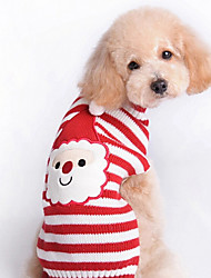 cheap -Cat Dog Sweater Winter Dog Clothes Red Costume Woolen Stripes Christmas New Year's XXS XS S M L XL