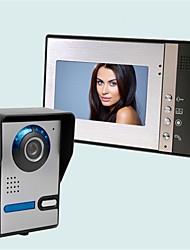 cheap -Wired Multifamily video doorbell 7 inch Handheld 30 Pixel One to Four more video doorphone