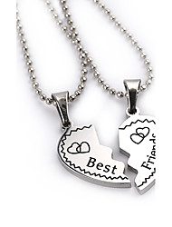 cheap -Women's Pendant Necklace Engraved Heart Love life Tree Best Friends Friendship Ladies European Fashion Sister Silver Plated Alloy Silver Necklace Jewelry 2pcs For Thank You Daily Casual Sports Work