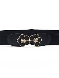 cheap -Women's Dress Belt Resin / Alloy Buckle - Solid Colored Floral / PU