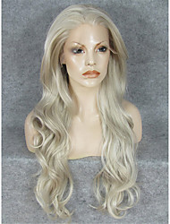 cheap -Synthetic Wig Wavy Wavy Lace Front Wig Blonde Blonde Synthetic Hair Blonde