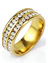 cheap -Band Ring Crystal Golden Alloy Punk Rock 6 7 8 9 10 / Men's